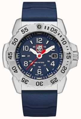 Luminox | acier de joint marine série 3250 | bracelet en caoutchouc bleu | cadran bleu XS.3253