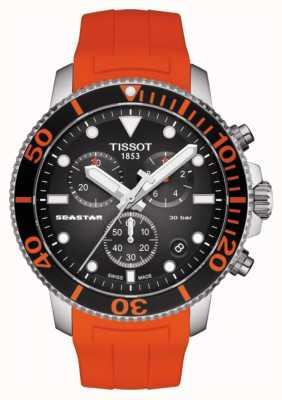 Tissot | chronographe seastar 1000 | bracelet orange | 300m T1204171705101