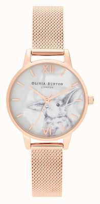 Olivia Burton | les femmes | animaux illustrés | lapin | maille en or rose | OB16WL85