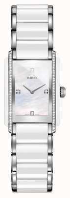 Rado Montre à cadran carré en céramique high-tech avec diamants intégrés R20215902