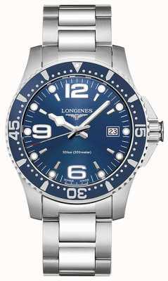 Longines | hydroconquête | Boîtier de 41 mm | cadran bleu | Quartz suisse L37404966