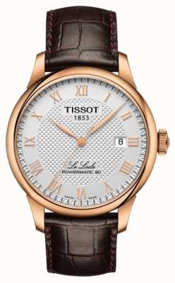 Tissot | le locle | powermatic 80 | bracelet en cuir marron | T0064073603300