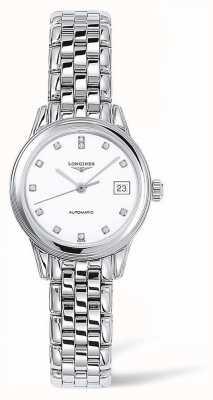 Longines Navire amiral | bracelet en argent | visage blanc | L42744276