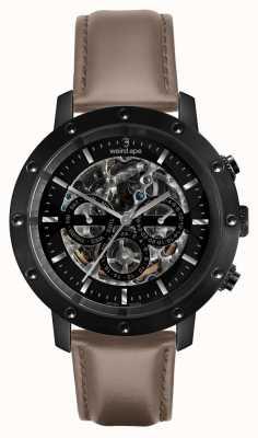 Weird Ape Icarus 3 dial | cadran noir | bracelet en cuir noisette WA02-005703