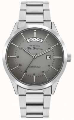 Ben Sherman Bracelet en acier inoxydable pour hommes   cadran gris   BS022SM