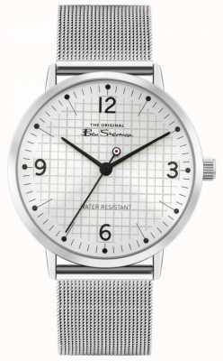 Ben Sherman Bracelet en acier inoxydable pour hommes | cadran argenté sunray | BS025SM