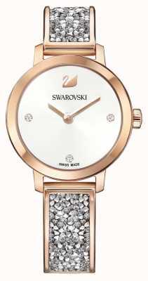Swarovski | roche cosmique | bracelet en or rose | cadran blanc | 5376092
