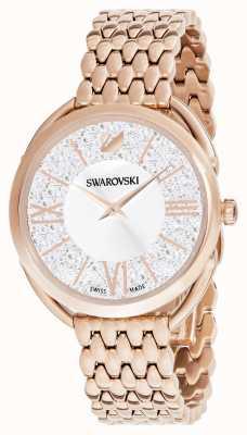Swarovski | glam cristallin | bracelet plaqué or rose | cadran argenté 5452465