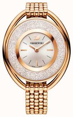 Swarovski | cristallin | ovale | bracelet plaqué or rose | cadran blanc 5200341