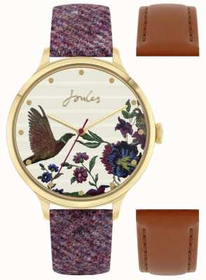 Joules Sangle interchangeable en tweed et baies pour femme | faisan composer | JSL002TGG G