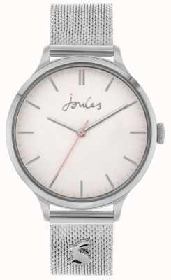 Joules Ryton | bracelet en acier inoxydable avec mailles d'argent | cadran argenté | JSL026SM