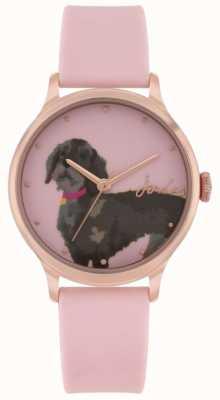 Joules Bracelet en silicone rose pour femme | cadran d'impression teckel | JSL010PRG