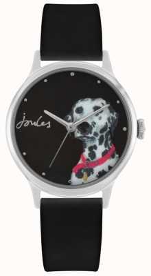 Joules Bracelet en silicone noir pour femme | dalmation imprimer cadran | JSL010BS