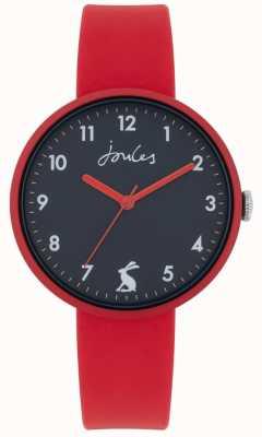 Joules Côte | bracelet en silicone rouge | cadran marine | JSL020R
