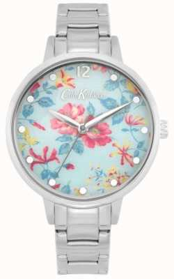 Cath Kidston Pembroke Rose | bracelet en acier inoxydable | cadran floral bleu CKL084SM