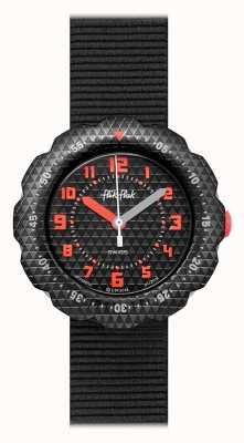 Flik Flak | poste de nuit | bracelet en tissu noir | cadran noir | FPSP032