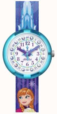 Flik Flak | disney congelés elsa & anna | bracelet en tissu imprimé bleu | FLNP027