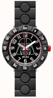 Flik Flak | star wars darth vader | bracelet en caoutchouc noir | cadran noir FFLP005