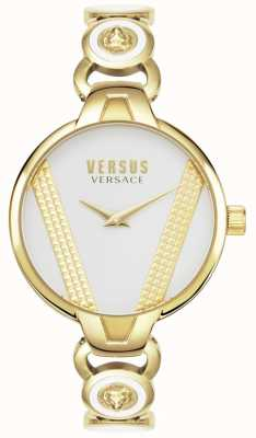 Versus Versace | saint germain | ton or en acier inoxydable | cadran noir | VSPER0319