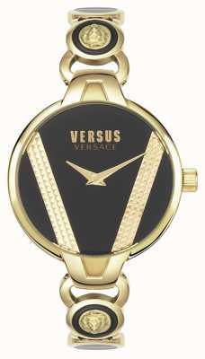 Versus Versace | saint germain | acier inoxydable doré | cadran noir | VSPER0319