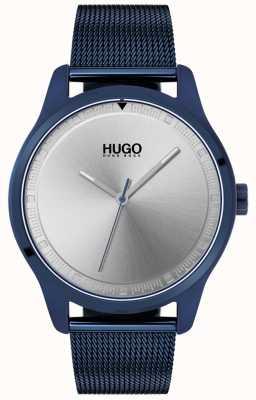 HUGO #move | bracelet maille ip bleu | cadran bleu | 1530045