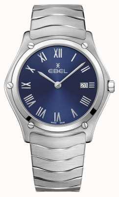 EBEL   sport classique pour hommes   bracelet en acier inoxydable   cadran bleu 1216420A