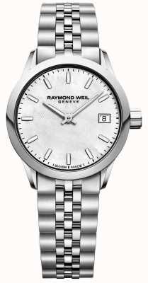 Raymond Weil Femmes | pigiste | cadran nacre | acier inoxydable 5626-ST-97021
