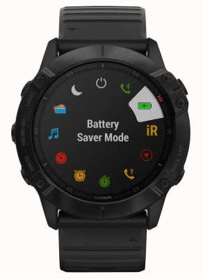 Garmin Fenix 6x pro | silicone noir | montre intelligente multisport 010-02157-01