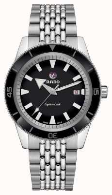 Rado Bracelet en acier inoxydable 'capitaine capitaine' cadran noir R32505153