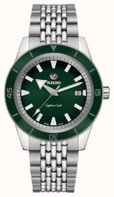 Rado Bracelet en acier inoxydable XL 'capitaine cuisinier' cadran vert R32505313