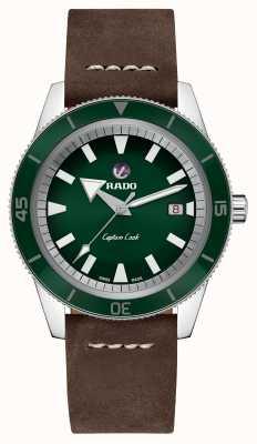 Rado Bracelet 'cuir capitaine' brun cuir cadran vert R32505315