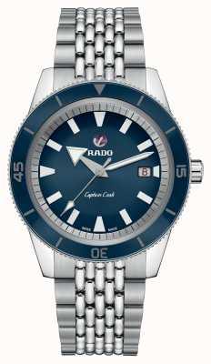 Rado Bracelet en acier inoxydable XL 'capitaine de cuisinier' cadran bleu R32505203