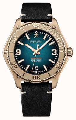 EBEL Découverte masculine en édition limitée   boîtier en bronze   bracelet noir 1216472