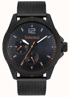Timberland | taunton des hommes | bracelet en maille noire | cadran noir | 15944JYB/02MM