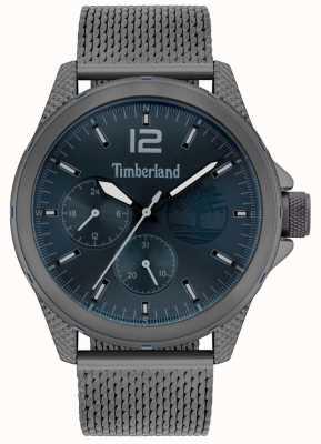 Timberland | taunton des hommes | bracelet en filet gris canon | cadran marine | 15944JYU/03MM