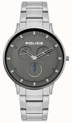 Police | berkeley des hommes | bracelet en acier inoxydable | cadran gris | 15968JS/39M