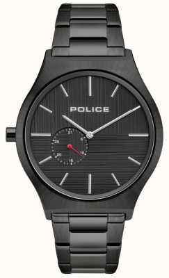 Police | les orkneys des hommes | bracelet en acier inoxydable noir | cadran noir 15965JSU/02M