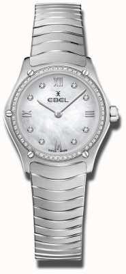 EBEL | classique du sport féminin | acier inoxydable | cadran serti de diamants 1216475A