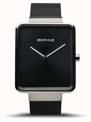 Bering | classique des hommes | bracelet en maille noire | cadran noir | 14533-102