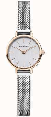 Bering | classique des femmes | bracelet en maille d'acier | cadran gris | 11022-064