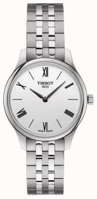 Tissot | tradition des femmes | bracelet en acier inoxydable | cadran argenté T0632091103800