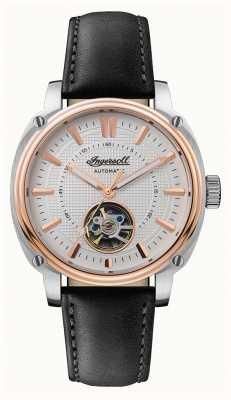 Ingersoll | le directeur automatique | bracelet en cuir noir | cadran blanc I08101