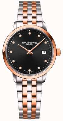 Raymond Weil | toccata des femmes | bracelet deux tons | ensemble diamant noir 5985-SP5-20081