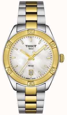 Tissot | pr100 sport chic femme | bracelet deux tons | T1019102211100
