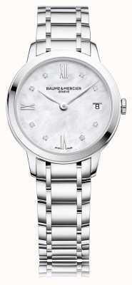 Baume & Mercier Diamant Classima | bracelet en acier inoxydable | mère de peal BM0A10326