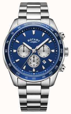 Rotary | henley pour hommes | cadran chronographe bleu | acier inoxydable | GB05109/05