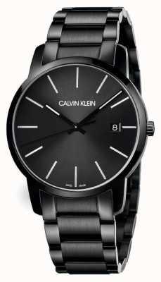Calvin Klein | la ville des hommes | bracelet en acier inoxydable noir | cadran noir | K2G2G4B1