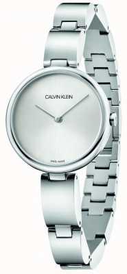 Calvin Klein | bracelet en acier inoxydable pour femmes | cadran argenté | K9U23146