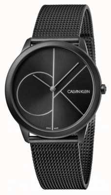 Calvin Klein | minimal | bracelet en acier noir | cadran noir K3M5145X