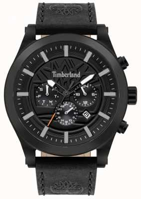 Timberland Bon sens de la rue | bracelet en cuir noir | cadran noir | 15661JSB/02
